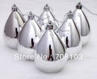 free shipping 7cm Drop the ball xmas tree decorations Electroplating ball 6colors santa decoration jingle bells christmas