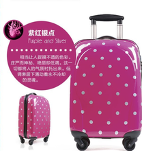 popular polka dot luggage