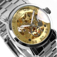 with box and free shipping IK Brand Charm Automatic Mechanical Watch Leisure Men's Wrist Watch for Gift Free Shipping