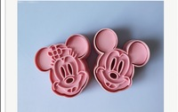2P Cartoon Mickey Cookie Cutter Fondant Cakes Craft Decorations Kitchen Tools