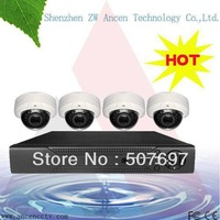 ANCHEN Megapixel Indoor IP Camera NVR Security kit Camera System 4CH NVR+ip camera hd system, Realtime Video hd ip kit