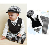Boy Baby Full 5 Pcs Formal Suit Set Christening Outfit Wedding Kids 0 2Y