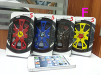 2013 Newest TPU 3D Back Cover Car Wheel Tire Case for iPhone 5 5G with Branded Car Logo Low Price 1pcs/lot Free Shipping