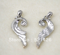 Free Shipping Romantic Anti-Silver plated elegant fit for lovers pendant Charms pendants accessories 12pcs a lot