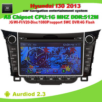 Android 2.3 OS A8 Chipset Car DVD GPS For Hyundai I30 2013  with GPS 3G Wifi BT 20 Disc Playing FREE Shipping+Map+Gifts