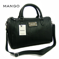 2013 new arrival mango plaid women message bag sports bags pu leather
