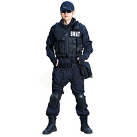 Good funmobile products swat black full set 10 piece set training uniform combat uniform set