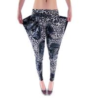2013 fashion all-match ultra thin leopard print elastic women's harem pants