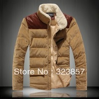 2013 autum -winter new fashion style warm casual coat outdoor jacket stand collar outerwear men's winter jacket free shipping