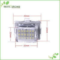 EMS/DHL free shipping 20pairs Car Auto LED License Plate Light Lamp for Benz W204 W212 W207 E-Class Coupe W221 W216