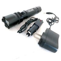 free shipping Straight Rechargeable Flashlight LED flashlight 3W emergency flashlight aluminum led flashlight torch with compass