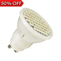 3pcs/lot Epistar zhongshan factory 5W led bulb lamp  60pcs led white light 110v smd 3528 bulb gu10 plastic cool white