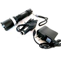 Led light hand lamp flashlight led charge 3w t6 lamp brightness adjustable