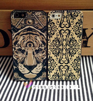 Free shipping! New Tiger Pattern  TPU Phone Case Cover Protector For Iphone4/4s/5 /Unique Design