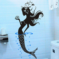 Merlons bathroom glass stickers tile wall stickers decoration wall covering 367  Free Shipping