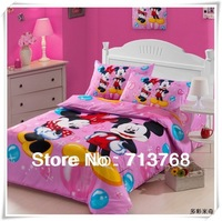 Free shipping Warm Top quality Children 4PC Home Textile Cartoon Bedding Set Covers/Bedding Sheet/Pillow Case