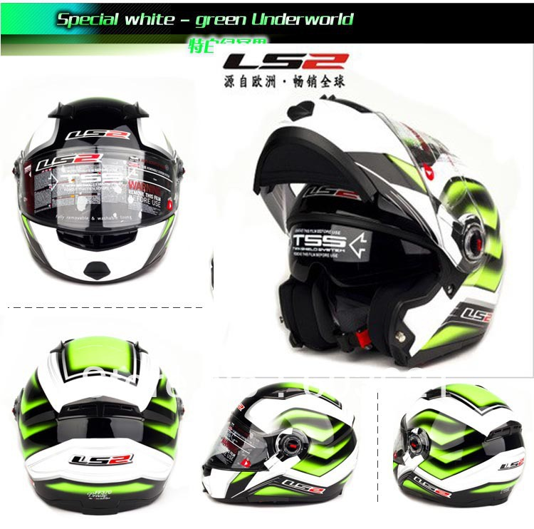 salable green under world undrape face helmet, Ls2 FF370 Full Face Motorcycle helmets ,Off Road open face Motorcross helmet(China (Mainland))