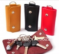 Min order $12(mix order) Free Shipping 2013 fashion B328 general leather key wallet key storage 6 keychain small portable