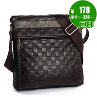 Cowhide man bag commercial 2013 casual bag male shoulder bag messenger bag genuine leather bag