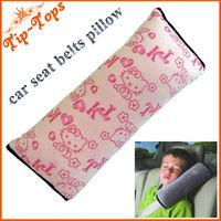 Free shipping new 2013 Fasion Hello kitty design Children Car seat belts pillow Car pillow cover,Children cushion
