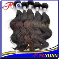 3pcs lot Fayuan 100% unprocessed virgin body wave hair full cuticle 5A Russian virgin hair