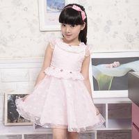 2013 summer girls clothing female child fashion lace one-piece dress child skirt princess dress sleeveless kid's skirt