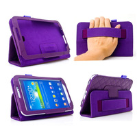 Case Tab3 7.0 Letaher Stand Cover Skin Shell With Handholder For Samsung Galaxy Tab3 7 In Case 1pcs/lot  Free Postage