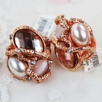 Freeshipping 2013 min order$5 accessories fashion female flower cutout delicate yl ring cz-17 luxury