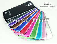 Hot sale Brushed Metal Aluminum Replacement Back Cover Housing Battery Door For Samsung I9500 Galaxy S IV Free shipping
