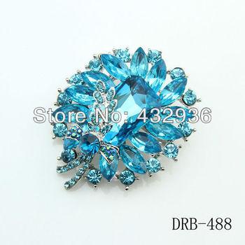Высокое качество Blue Crystal и акриловые брошь горный хрусталь Броши DRB-488