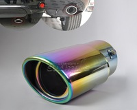 Colored STAINLESS STEEL EXHAUST TAIL REAR MUFFLER TIP PIPE for  Camry Highlander Accord 2008 2009 2010 2011 2012 2013- CA01328