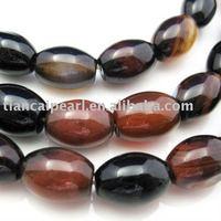 10x14mm Agate Beads - Nature Stone - Olive shape Semi-Precious Stone stone Strand 16''L=38cm/strand