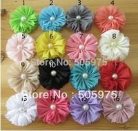 Hot sell  Headband,Delicate Kids Hair Accessories Chiffon Pearl Flower