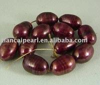 9x13mm Freshwater pearls- rice shape Semi-Precious Stone stone Strand 16''L=38cm/strand