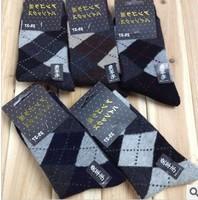 Free shipping  dotted line diamond   rabbit wool men socks high quality  supernova sale autumn and winter thicken  male socks