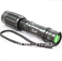 free shipping,Ultrafire 1800 Lumen 5modes Zoomable CREE XM-L T6 LED 18650 /AAA  High Power Flashlight Torch SG20 (Black)