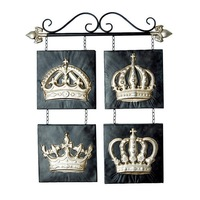 Modern Home Decoration Metal Wall Art Imperial Crown as Metal Wall Decor 55*63cm Free Shipping