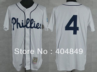 AA+ 4 multi type Jimmie Foxx jersey, Phillies white cooperstown authentic Jersey, custom baseball free shipping.