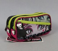 Free Shipping 2013 New Monster High School Pencil-case Original Monster High Bag Pen Bag Girls Pencil Box