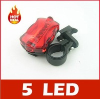 Professional 5 LED Bicycle Rear Tail Lamp LED warning light - Free Shipping