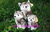 Free Shipping Hot selling Cute Animal Plush toy small husky dog dolls children birthday gift 16cm xqw203