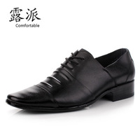 2013 new men's business suits leather shoes men shoes Korean version of the square head British wind single shoes