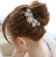 80000 popular hair accessory diamond flower insert comb hair accessory