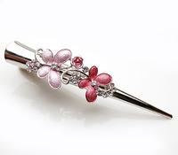Double butterfly hair maker horn clip crystal duckbill clip hair pin vertical clip 366326