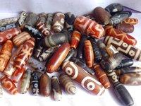 Semi-precious Stone - Mixed Size Ntural Agate Stone Dzi Beads