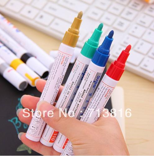 ( Min ordem $ 10 a ordem da mistura ) New !! Papelaria Criativa Color Paint Pen marcador marcador grafite caneta pens.promotioanl pen / gel(China (Mainland))