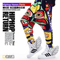 Trend multicolour harem pants hiphop hip-hop hiphop la loose female trousers 2ne1