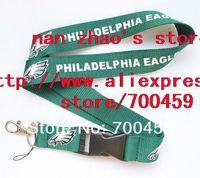 Wholesale  Hot 30pcs Philadelphia Eagles football Logo Lanyard/Mobile Phone Straps/Neck Strap//Lanyard Wholesale