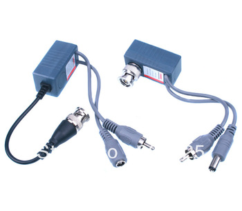 Free Shipping CCTV Products Audio Video Balun Power Video Transeiver