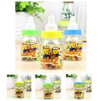Free shipping 8set/192pcs/lot Novelty nursing bottle eraser Despicable Me  cartoon mixed candy color